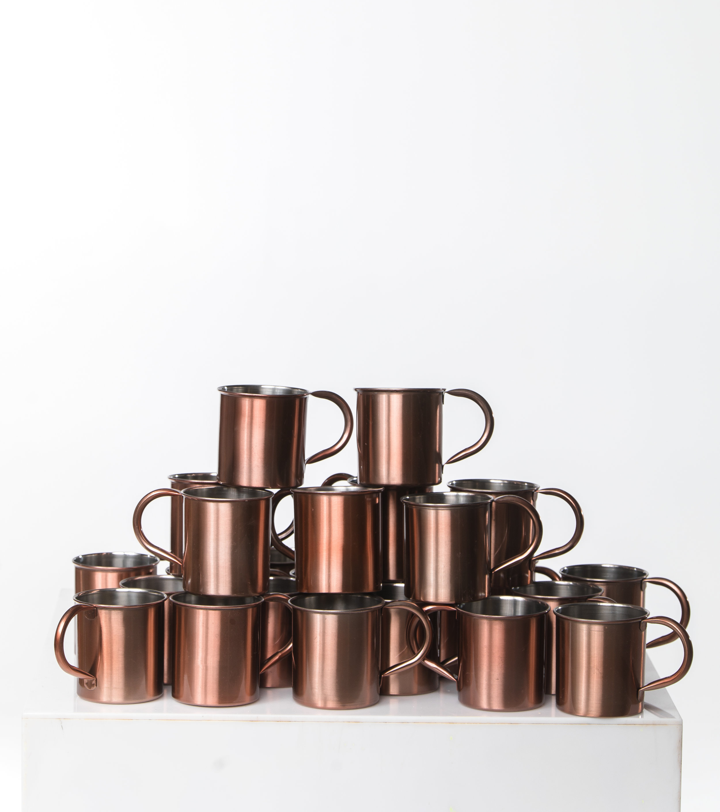 COPPER TIN MUGS