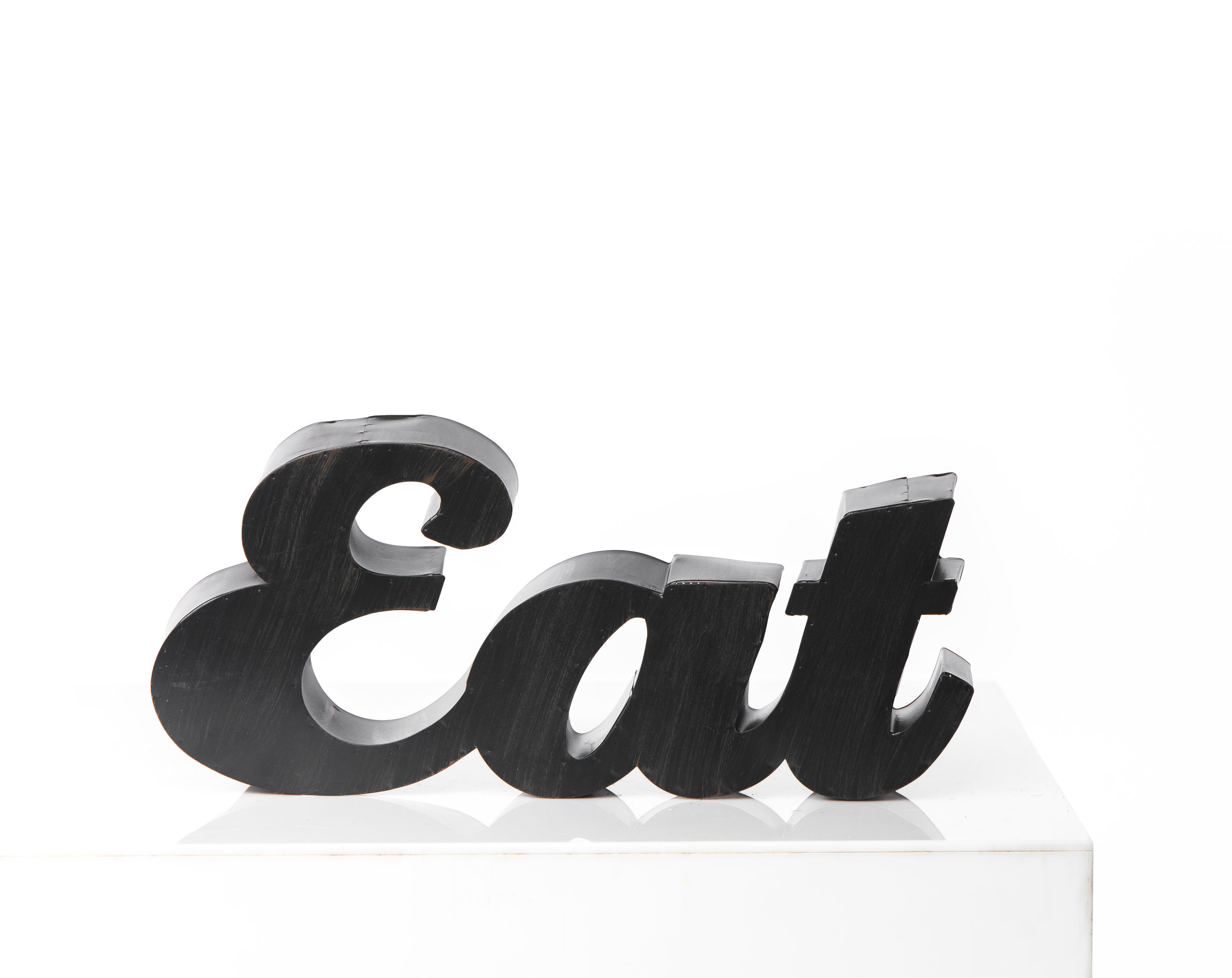 """EAT"" METAL SIGN"