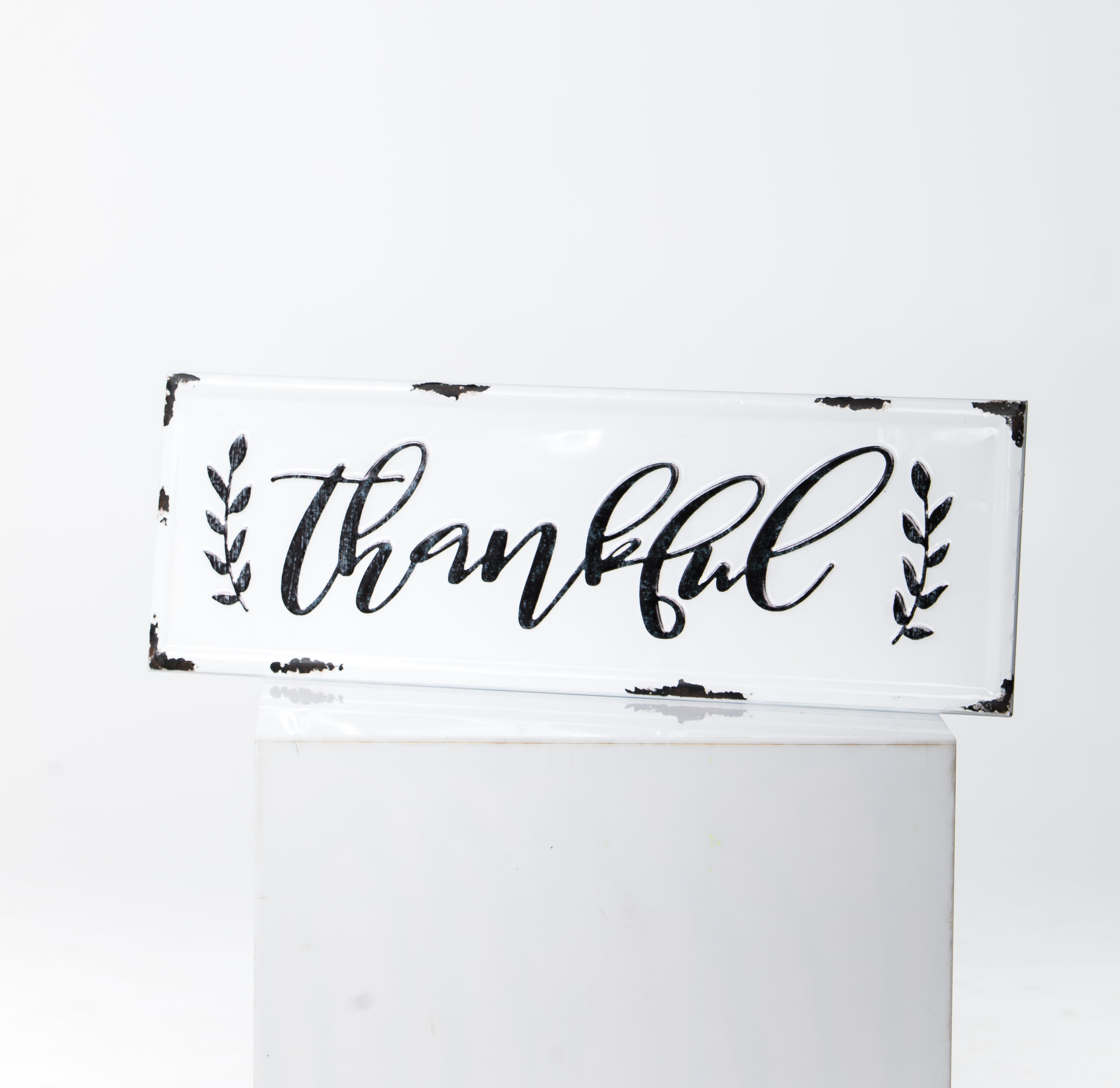 """THANKFUL"" METAL SIGN"