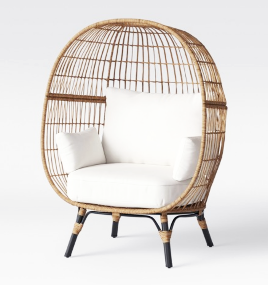 GIANT EGG WICKER CHAIR