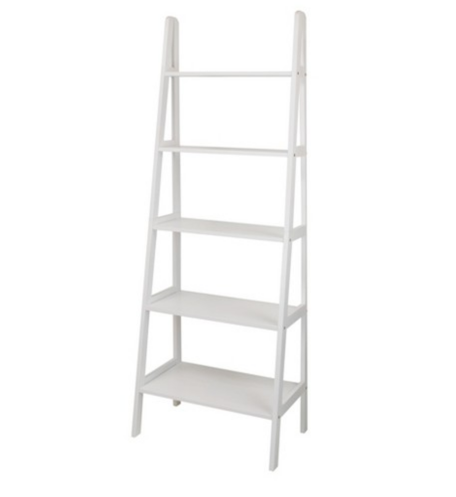 WOODEN LADDER SHELF (WHITE)
