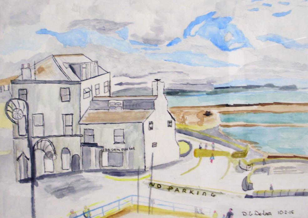Cobb view Lyme Regis