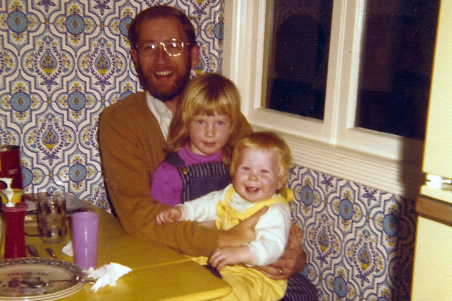 My dad, sister and me