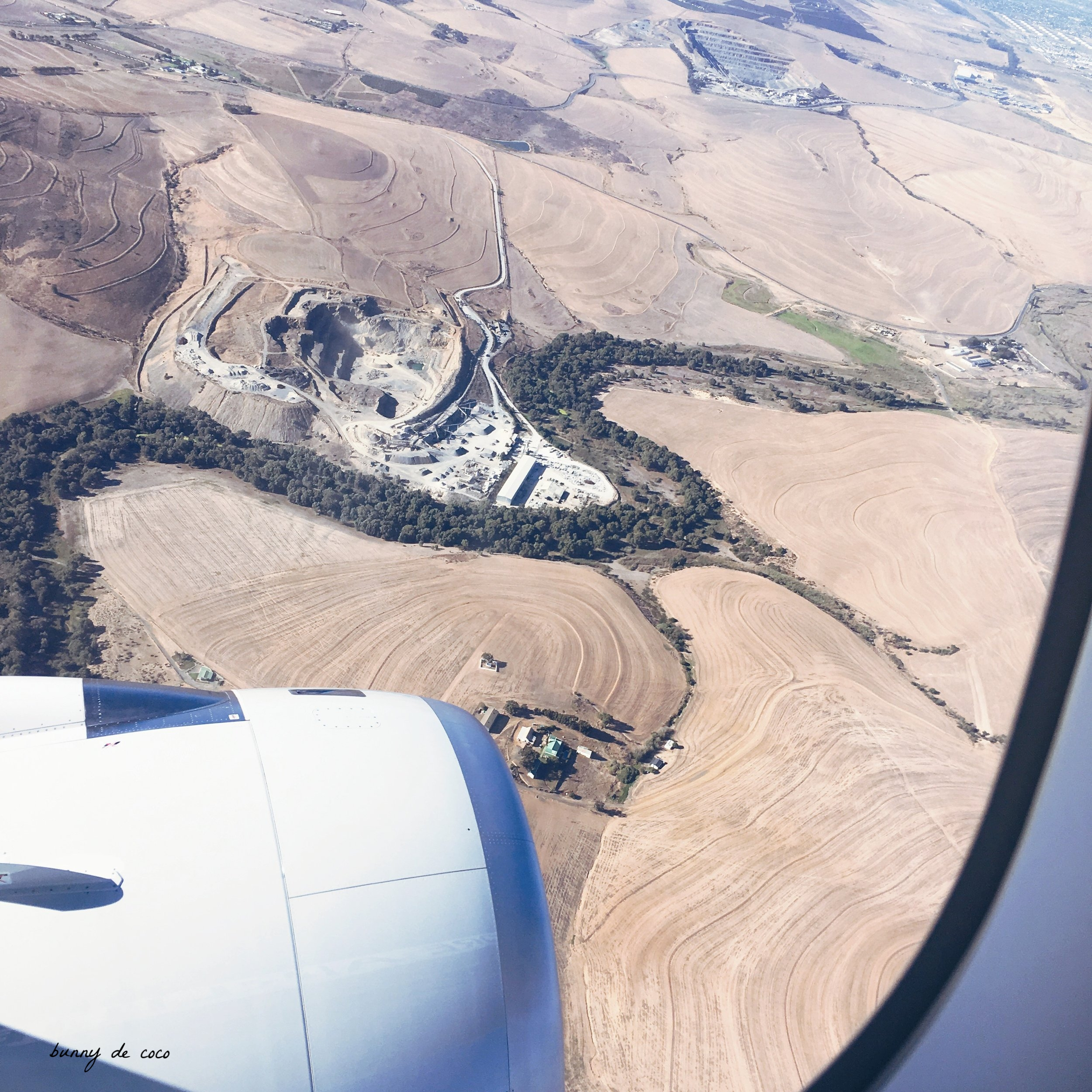 The view from above. Finally making our descent into Cape Town International Airport.
