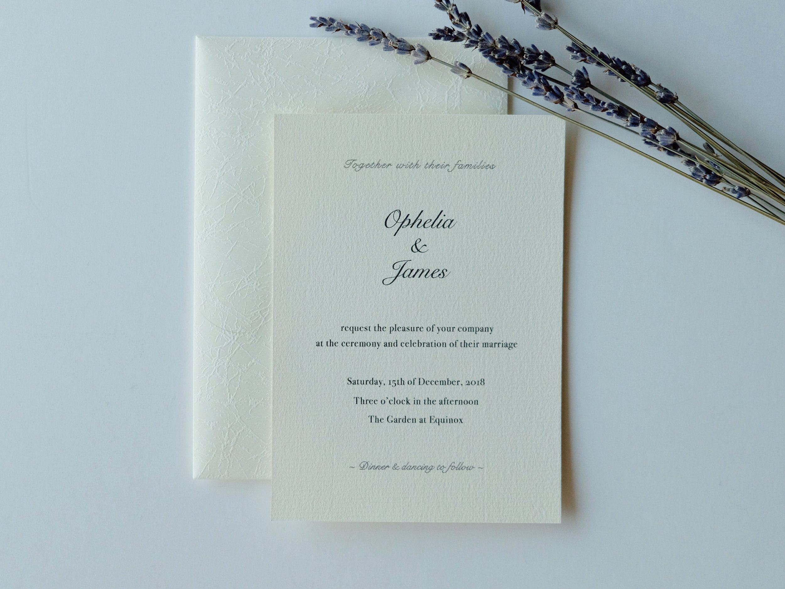 I DIY-ed my own wedding invitations and you probably wouldn't be able to tell
