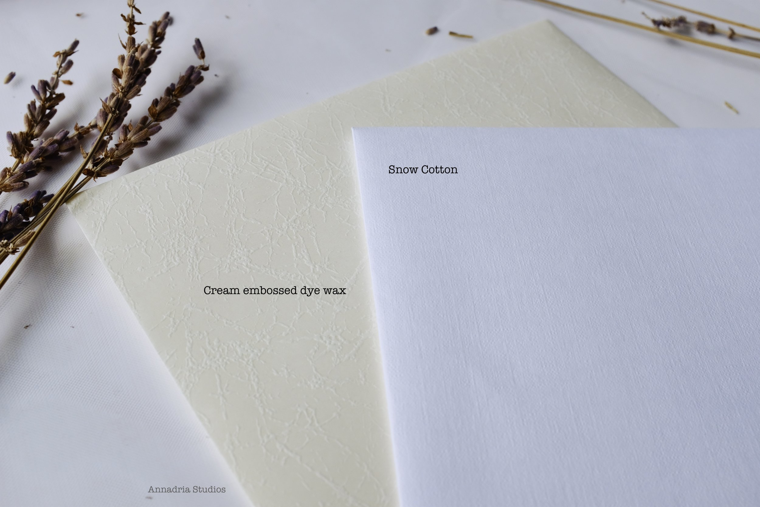3. - Based on your choice of stationery, select your desired cardstock and envelopes.You may also purchase sample sets with your desired cardstock and envelopes, which I highly recommend.
