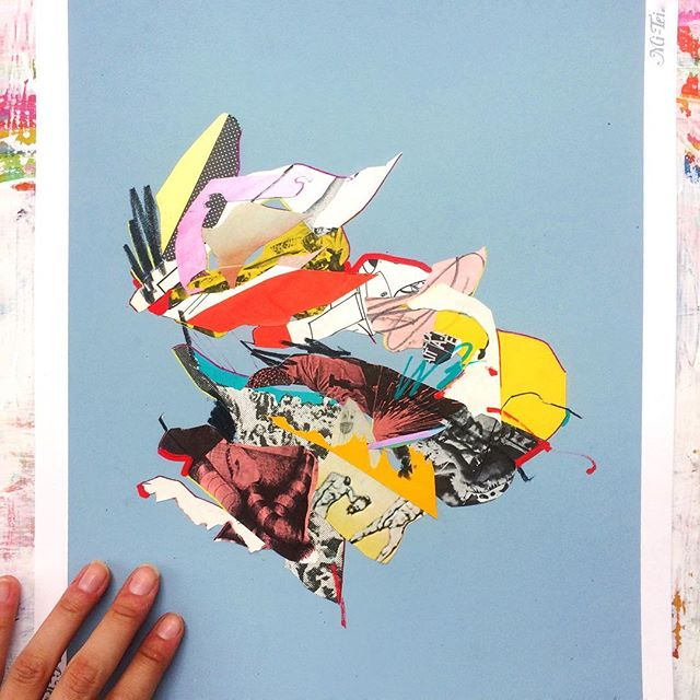 Another collage buddy to match my friend friend from yesterday. #collageart