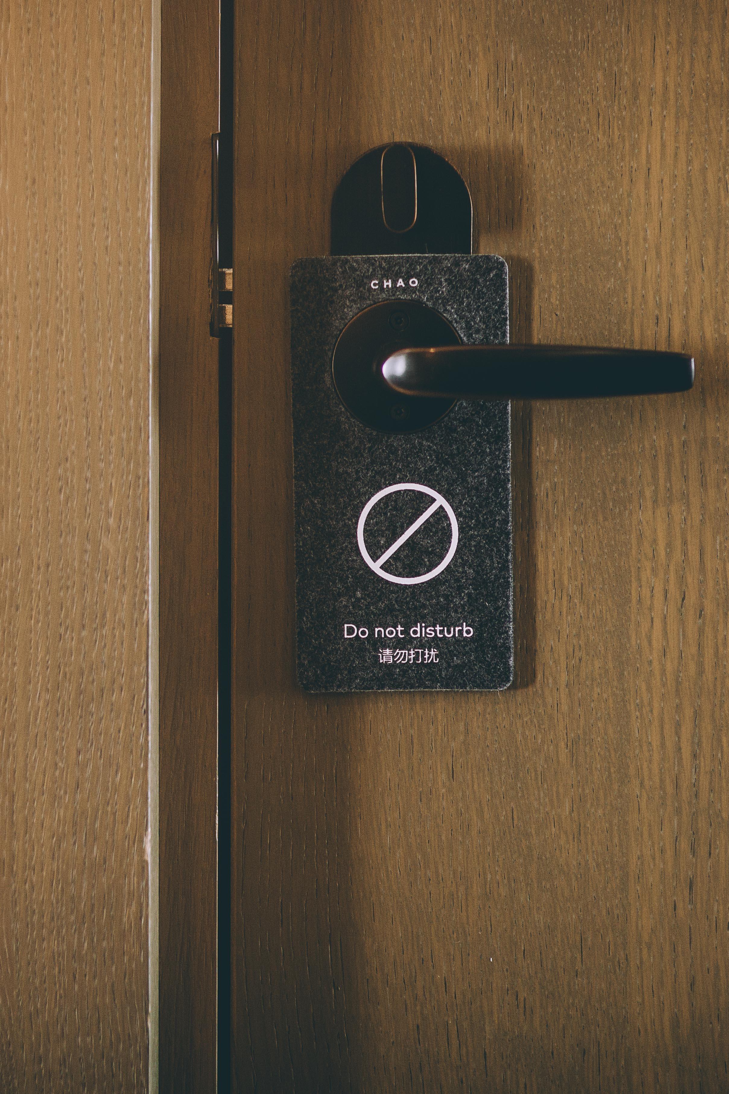Please do not disturb. I am disturbed enough already   The door Hanger