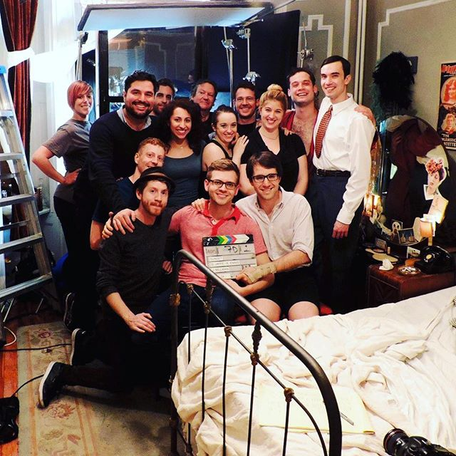We were all so young... Congratulations to the cast and crew of @sunsetshort on our NYC Premiere. You guys are the real heroes. #NewFest2017 #gaysinfilm #womeninfilm #lgbtfilm #lgbtpride #supportindiefilm #setlife #BandOfOthers