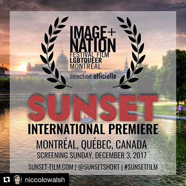 #Repost @niccolowalsh ・・・ Nous vous remercions @imagenationmtl it's an honor to have our INTERNATIONAL PREMIERE in Montréal! @sunsetshort #sunsetshort #SunsetFilm