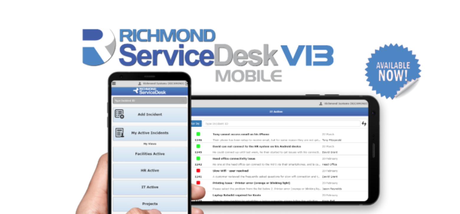 Richmond ServiceDesk - now on your mobile device