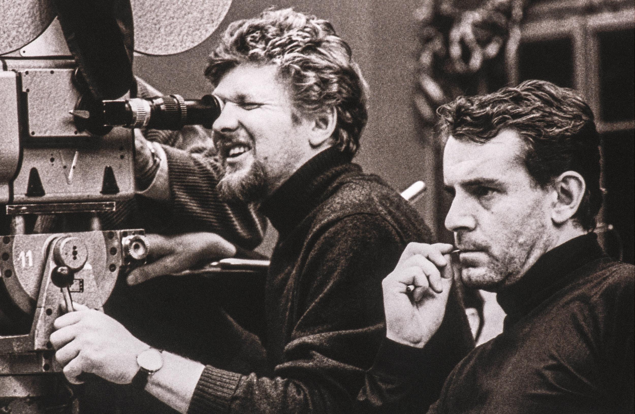 Miloš Forman (right) and Miroslav Ondříček in a still from Helena Třeštíková and Jakub Hejna's Forman vs. Forman