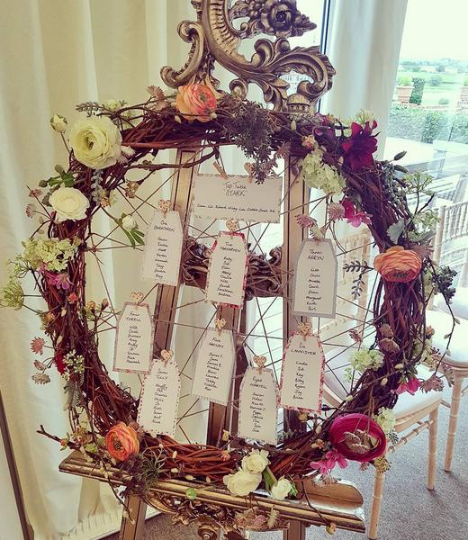 Willow Table Plan Cambridgeshire wedding