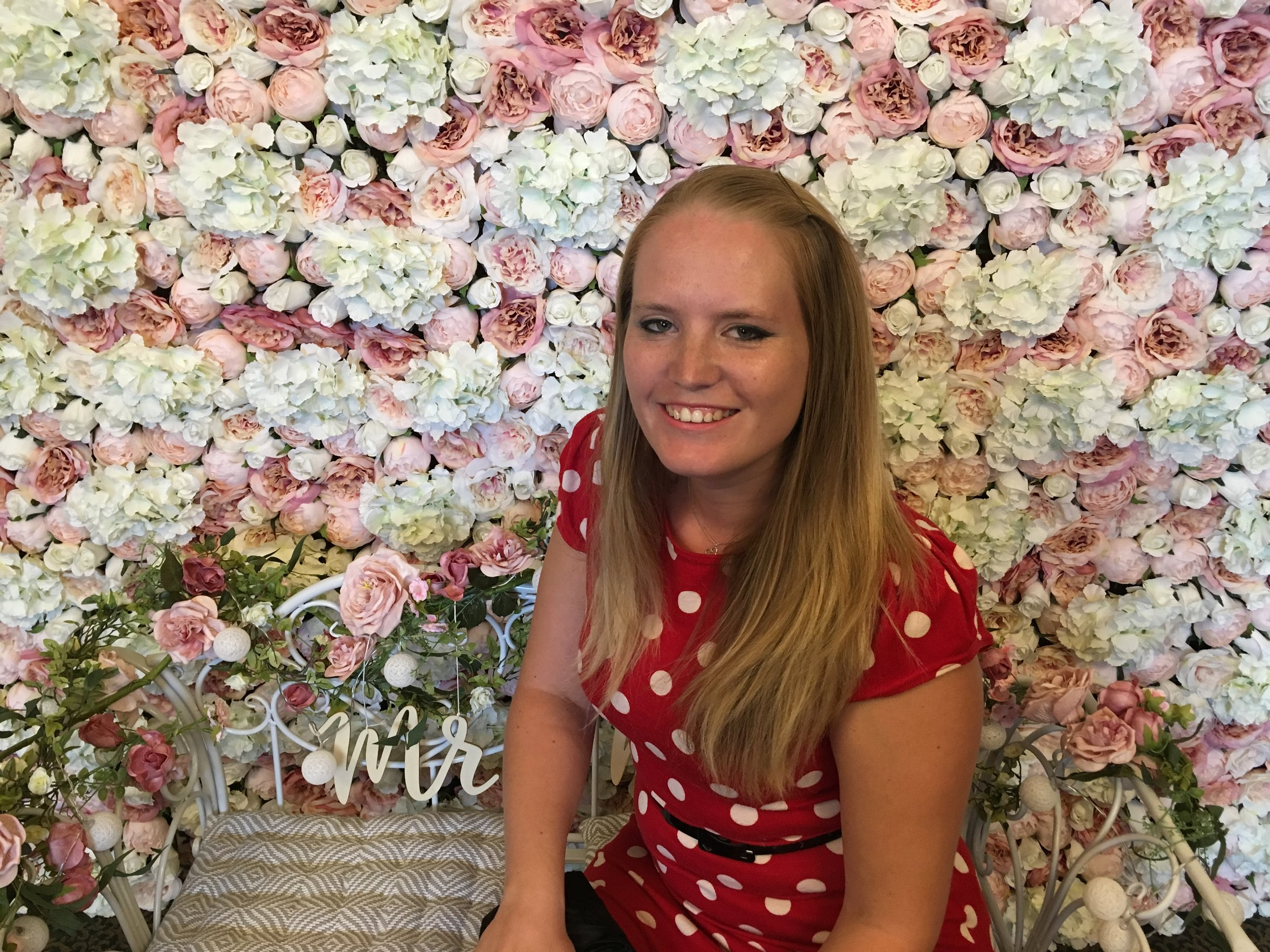 Becca Pountney Flower Wall Bedfordshire