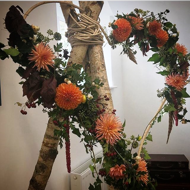 Rustic wedding floral arrangements Hertfordshire