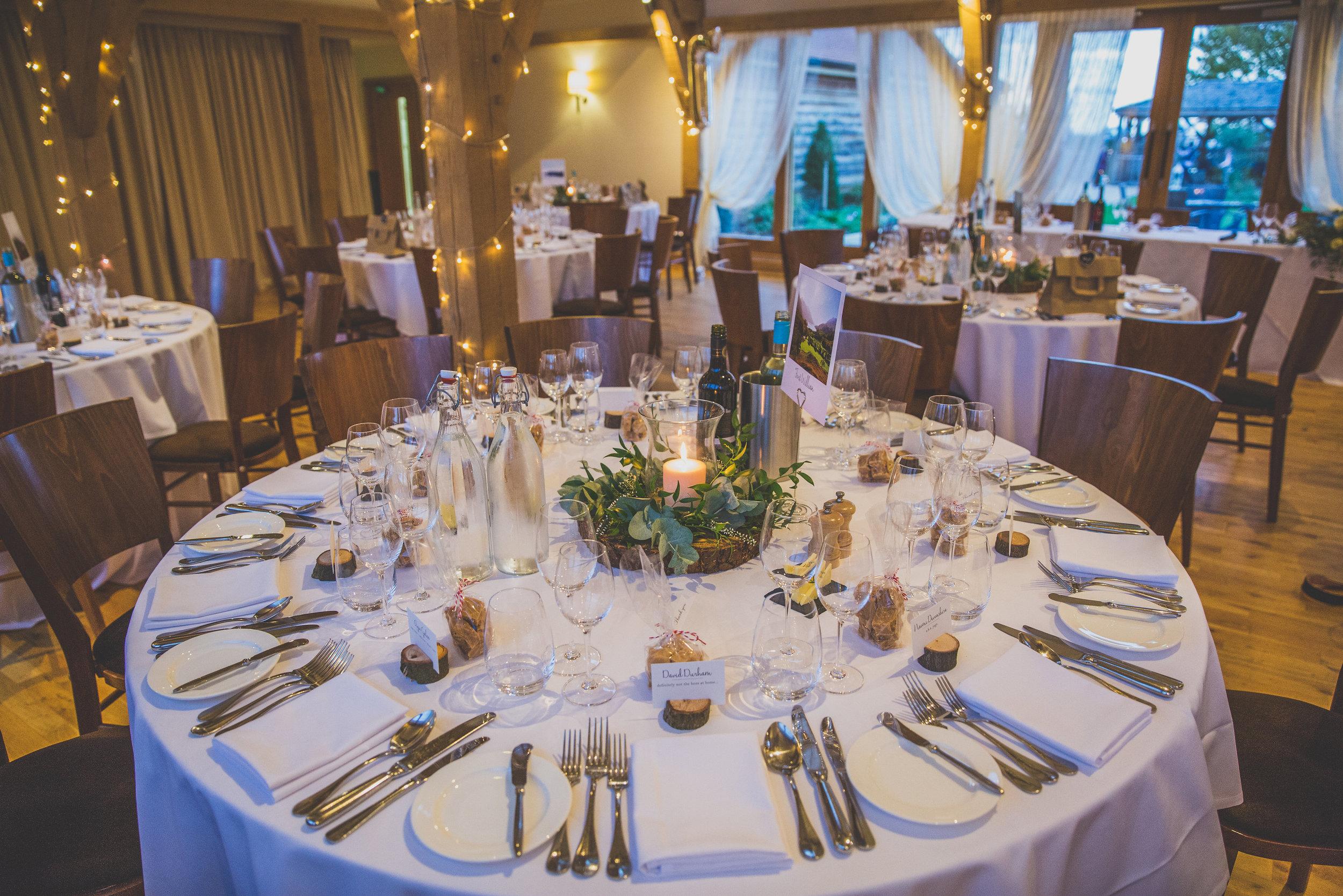 Wedding Table setting Cambridgeshire