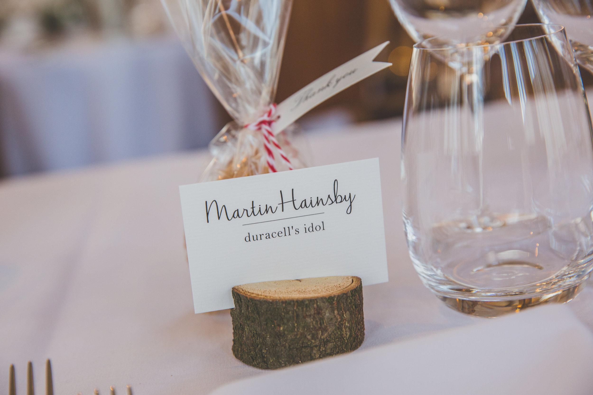 Wedding Favours place settings Cambridgeshire