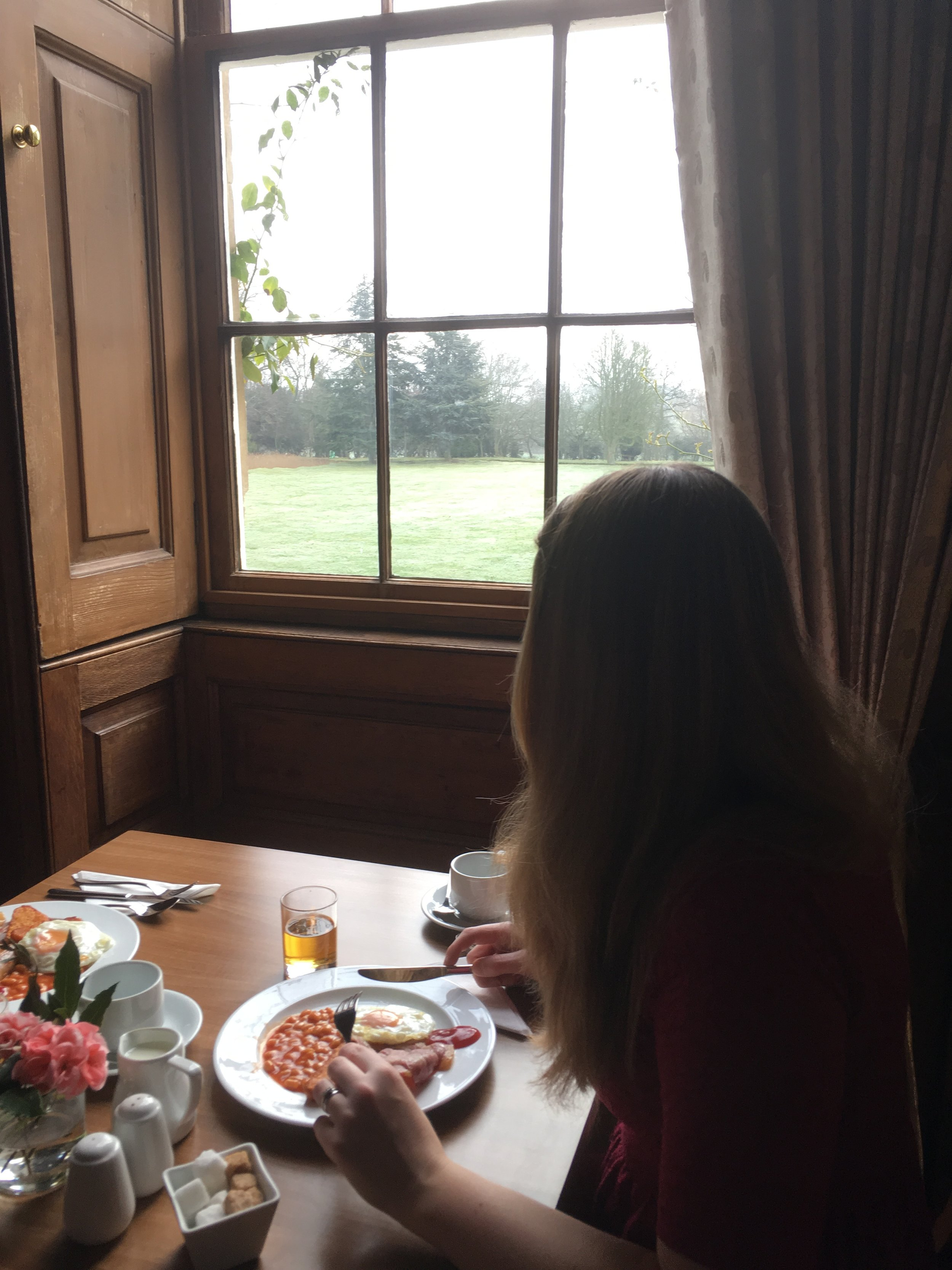 Chicheley Hall breakfast