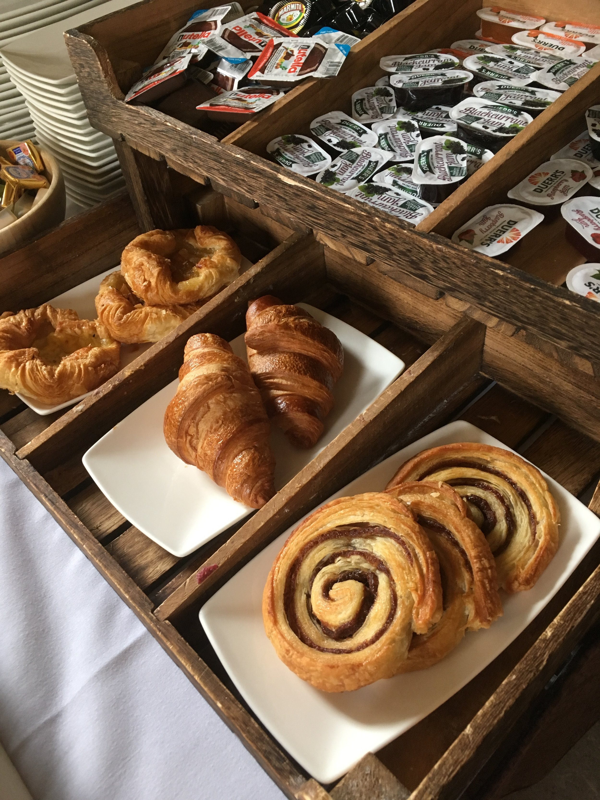Chicheley hall breakfast pastries