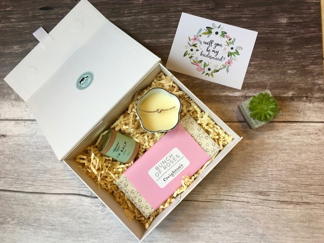 Will you be my bridesmaid proposal box Otter and Moose Bedfordshire