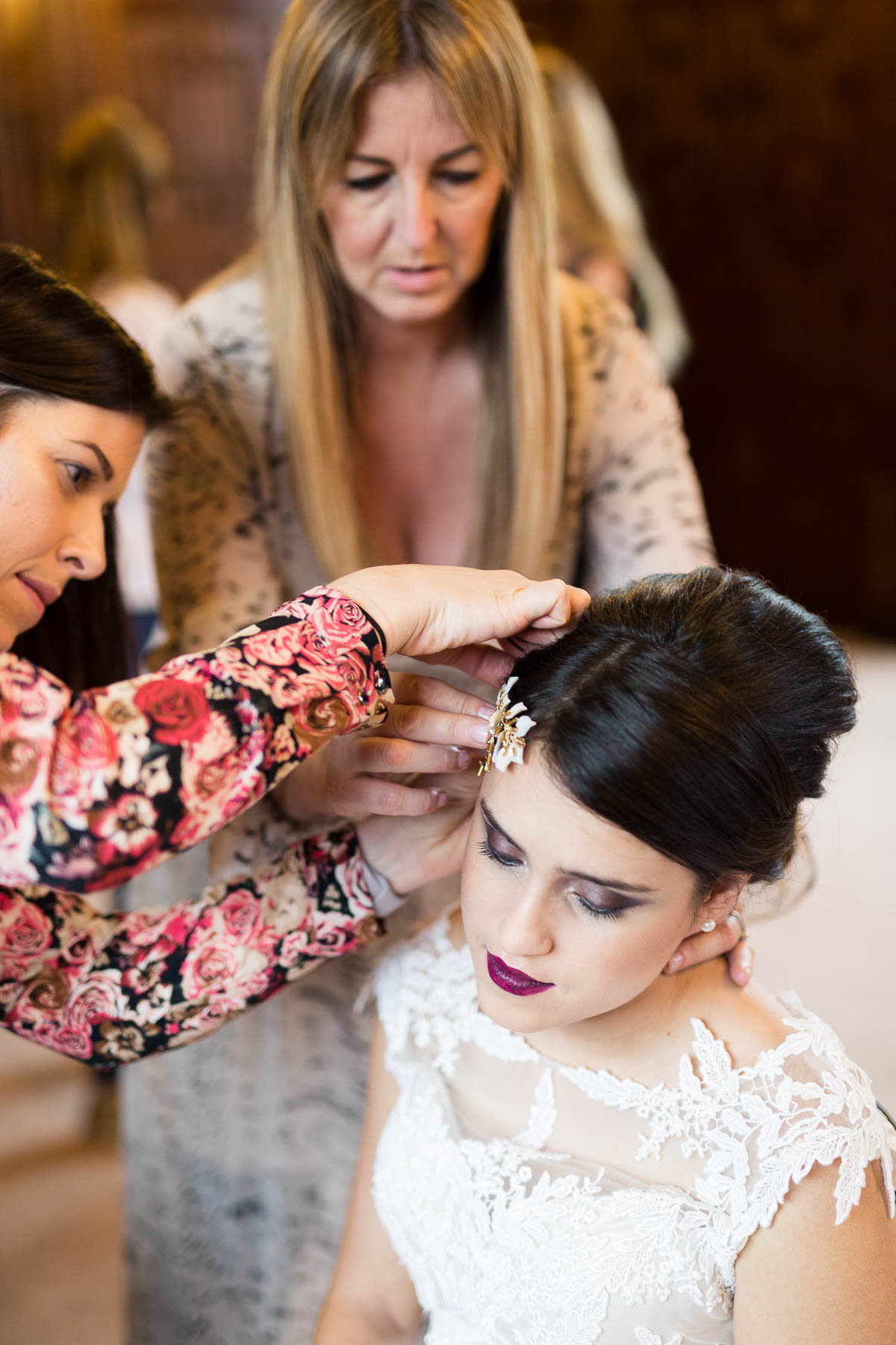 Red berry and navy wedding inspiration hair ideas by Emma Morris makeup bedfordshire