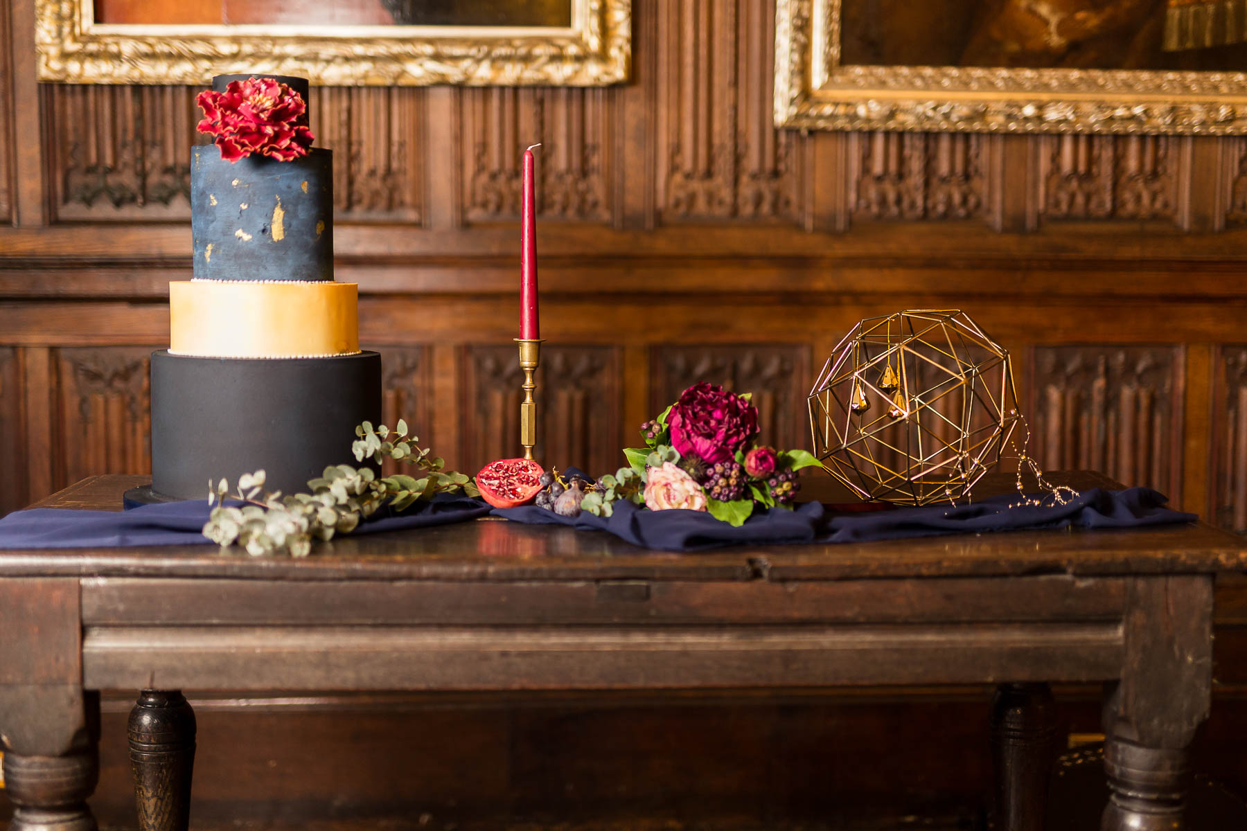 red berry navy and gold wedding cake ideas bedfordshire la belle cake company