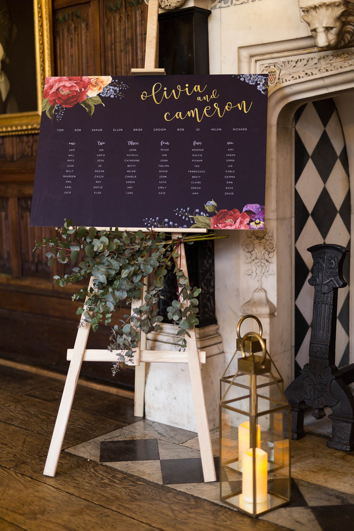 Red berry and navy table plan ideas hertfordshire sarah ardrey designs