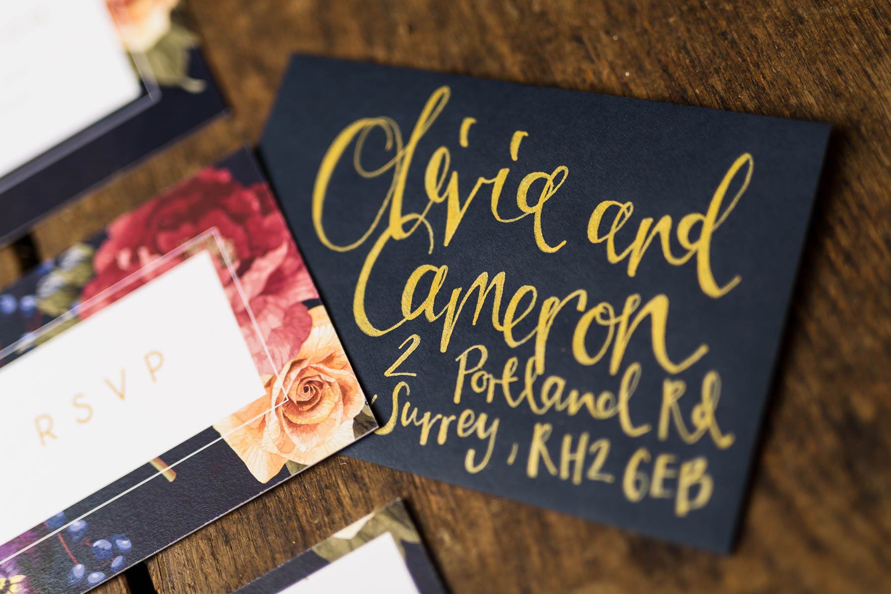 red berry and navy wedding invitation ideas sarah ardrey designs hertfordshire