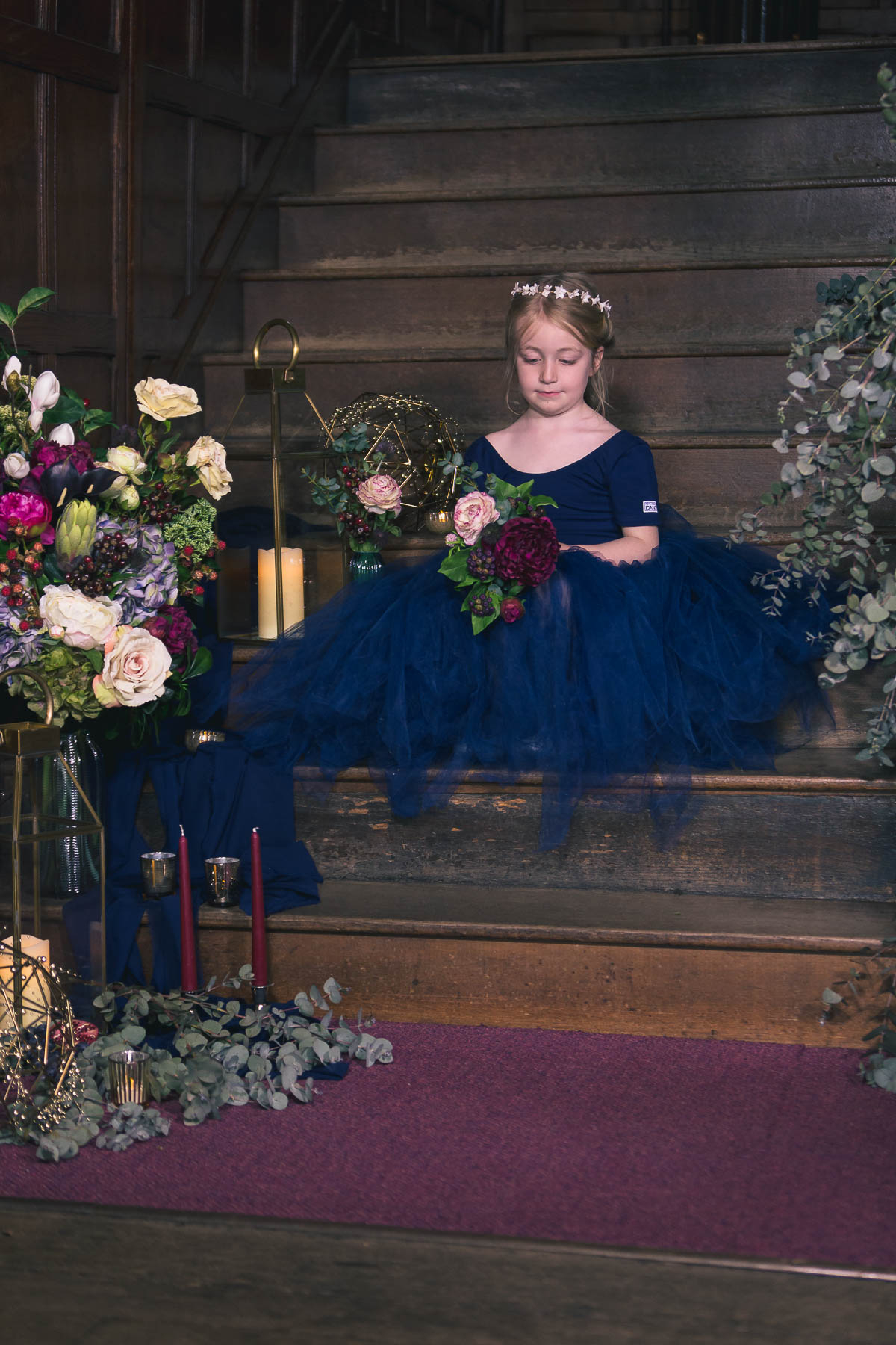 red berry and navy inspired wedding flower girl outfit ideas