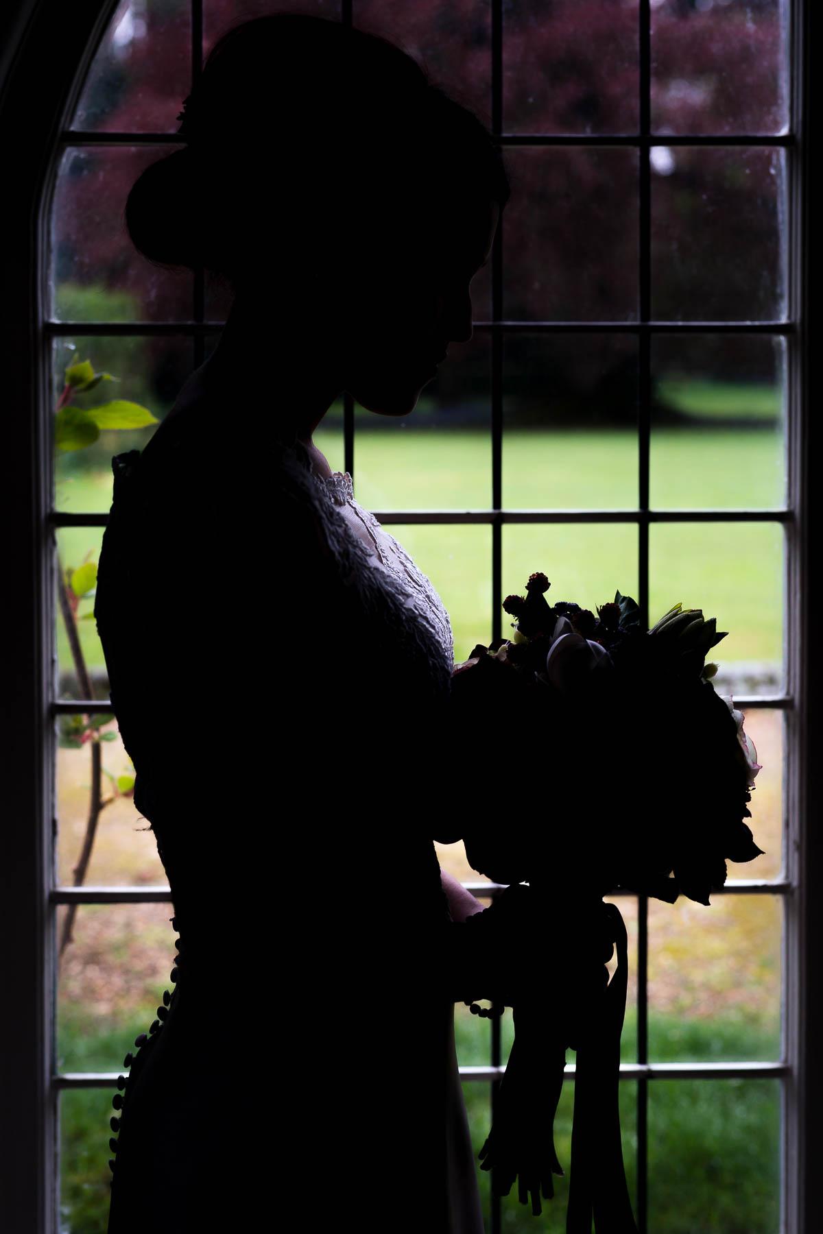 silhouette wedding photo ideas bride