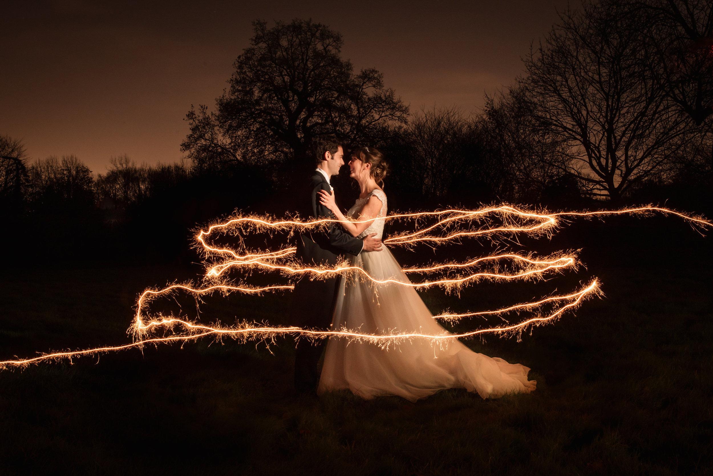 sparklers Elegant mansion house wedding hertfordshire becky harley photography