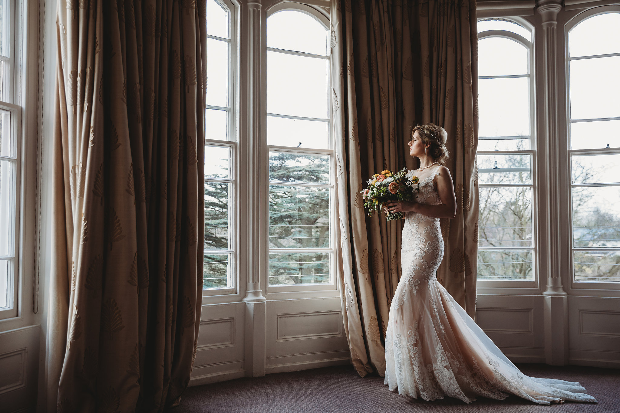 Ashley Sims wedding dress Cambridge