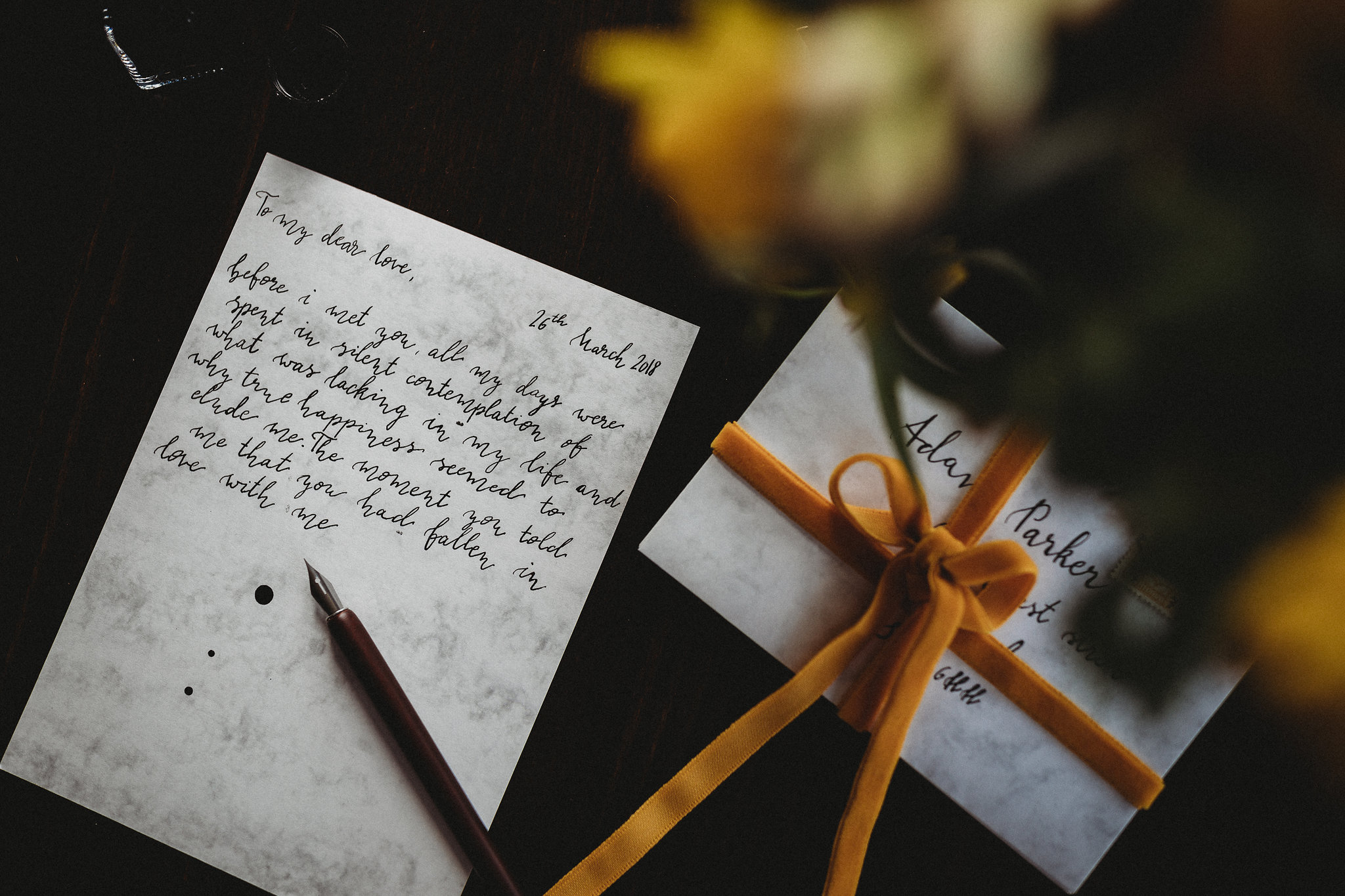Wedding Calligraphy Cambridge