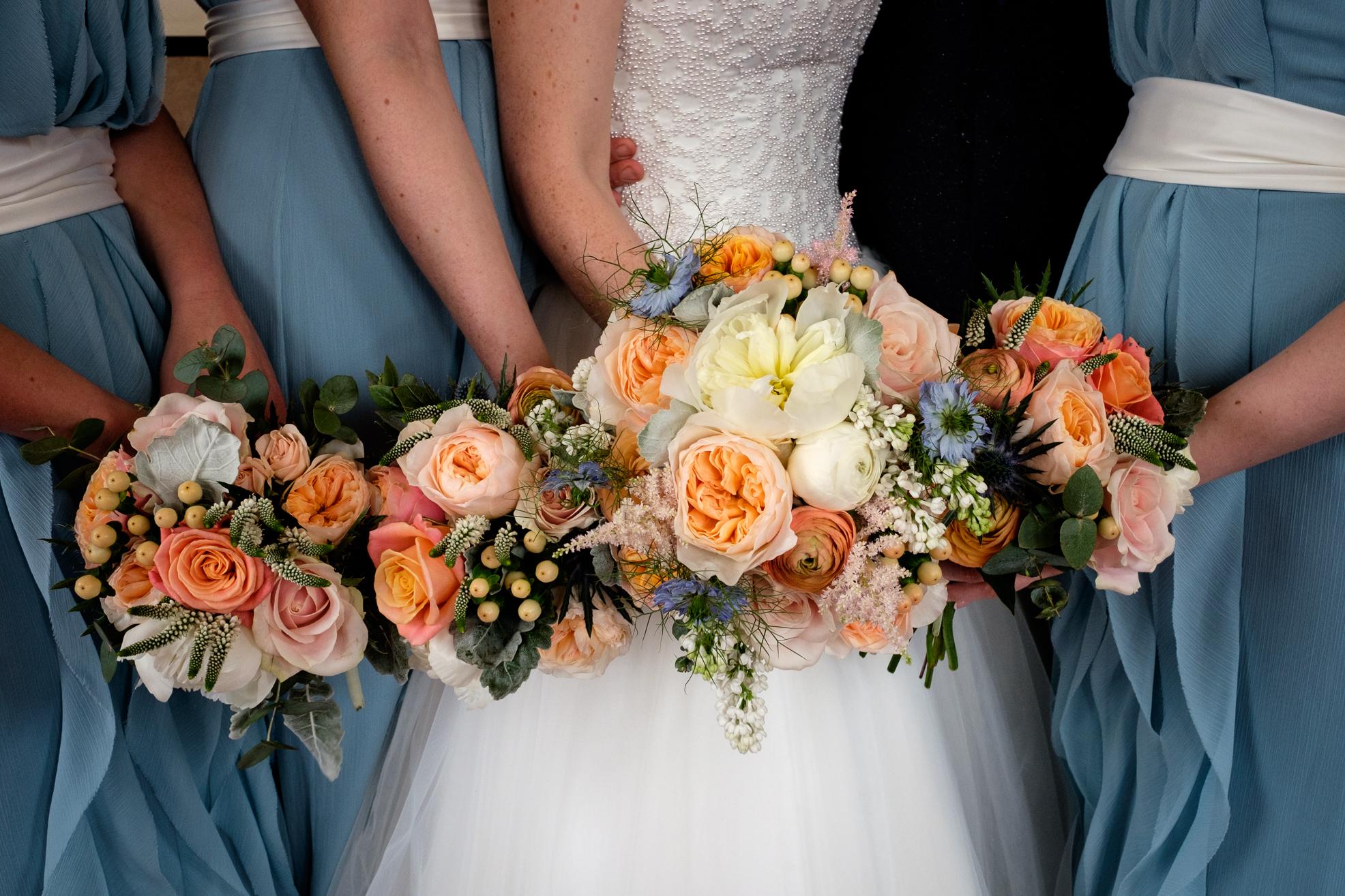 Bouquets:  Larkspur Floral Design  Photo credit: Lightworks Photography