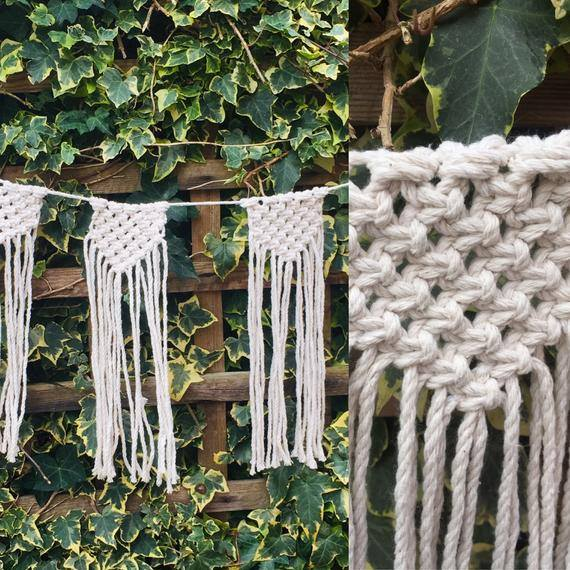 macrame wedding bunting ideas