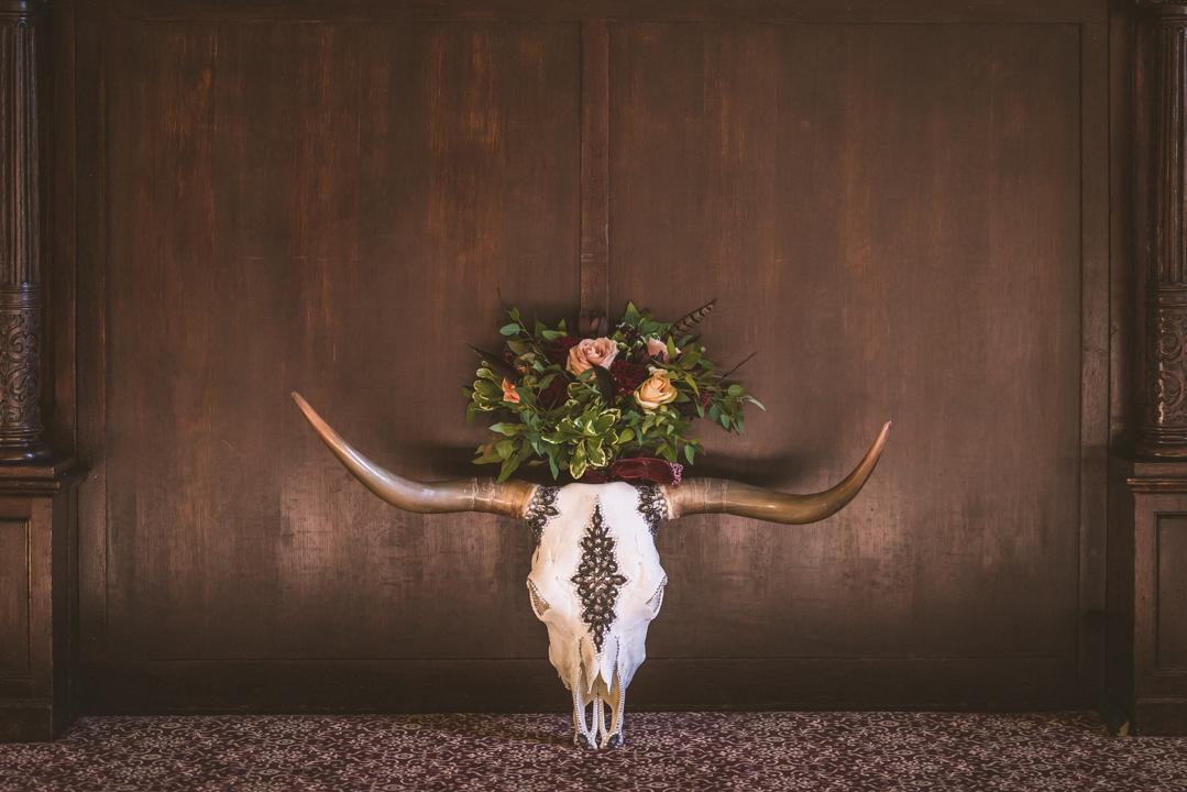 Perfect timing photography queen of skulls  wedding shoot Putteridge Bury Bedfordshire