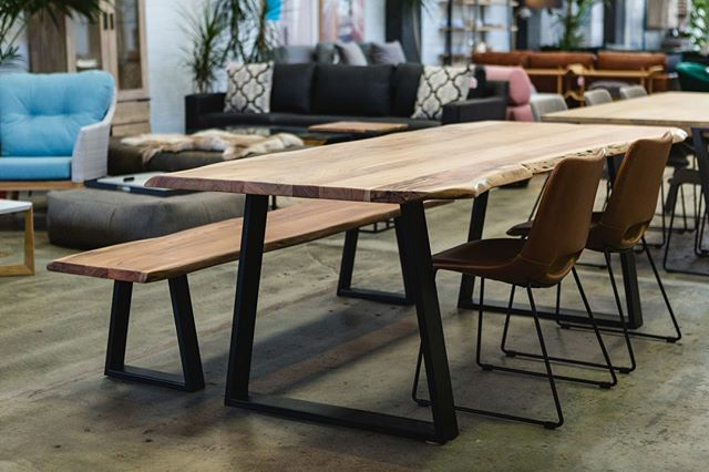 Don't be fooled by this table's contemporary and rustic look, it's as practical as it is a sight for the eyes! 😉 With the @laformaaustralia Sono Dining Table in place, you'll never want to leave your dining area! Better yet, this gorgeous table is available in 3 sizes to fit your space perfectly. Come see it for yourself today from 9am.⁠ .⁠ .⁠ .⁠ #embassyhome #embassyhomeoutfitters #interiordesign #interiordesigninspo #perthinteriors #perthfurniture #customfurniture