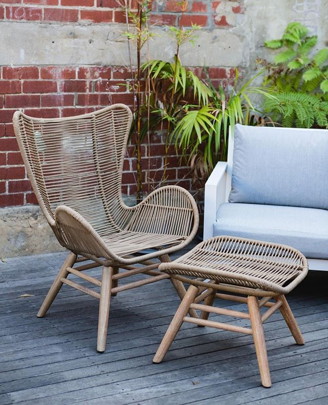 With only one month of winter left, it's time to start thinking about your outdoor living space! Kick up your feet with our Kubic armchair and footrest, the perfect alfresco piece for when the warm weather returns! 🙌 Our incredible range of outdoor furniture is just what you need to enjoy some fun in the sun! 😎 . . . #embassyhome #embassyhomeoutfitters #interiordesign #interiordesigninspo #perthinteriors #perthfurniture #customfurniture