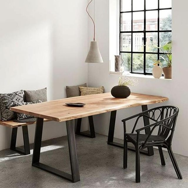 If you're going for the natural and earthy look, the Sono dining table by @laformaaustralia will make the perfect addition to your space! 👌 Made with a natural solid wattle timber top and black painted metal legs, it comes in three different sizes to fit every home! . . . #embassyhome #embassyhomeoutfitters #interiordesign #interiordesigninspo #perthinteriors #perthfurniture #customfurniture