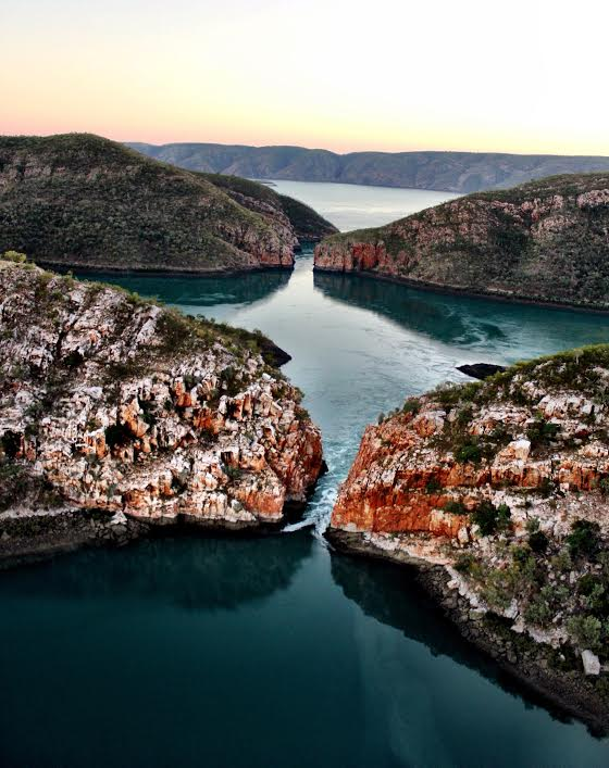 Sunrise view over the Horizontal Falls
