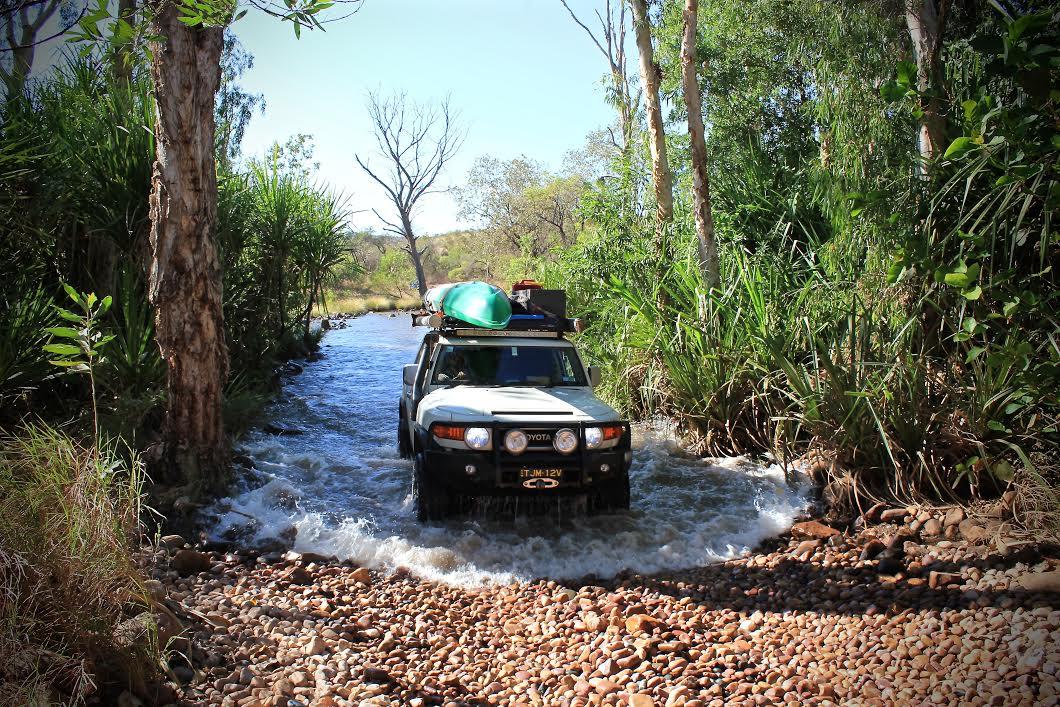 One of El Questro's numerous water crossings