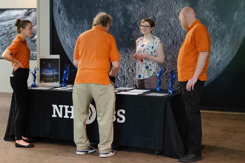 McAuliffe--Shepard Discovery Center Staff interact wtih PBS Staff