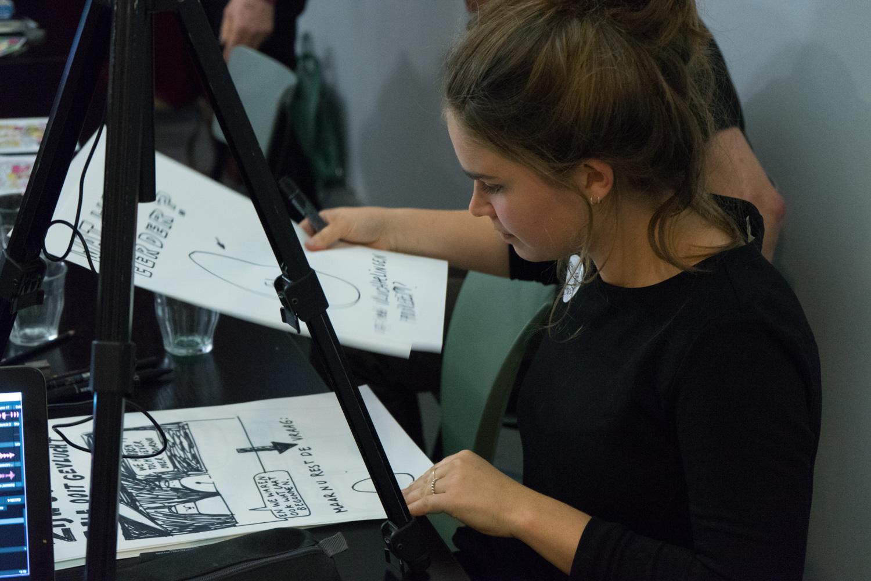 Live drawings by Sanne Boekel