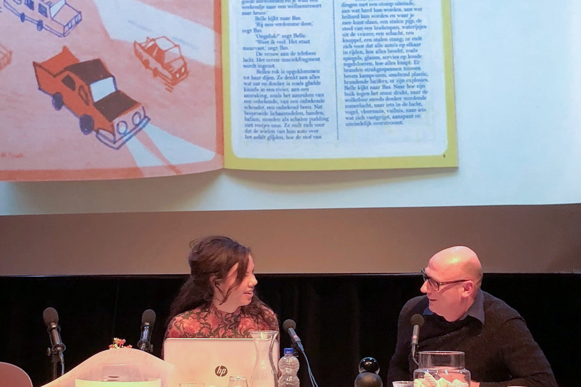 Writer Annemarie de Gee and Jeroen de Leijer