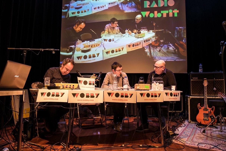 Artists Michiel van de Pol, Marc van der Holst and radiohost Jeroen de Leijer. Photo: Willam van der Voort.