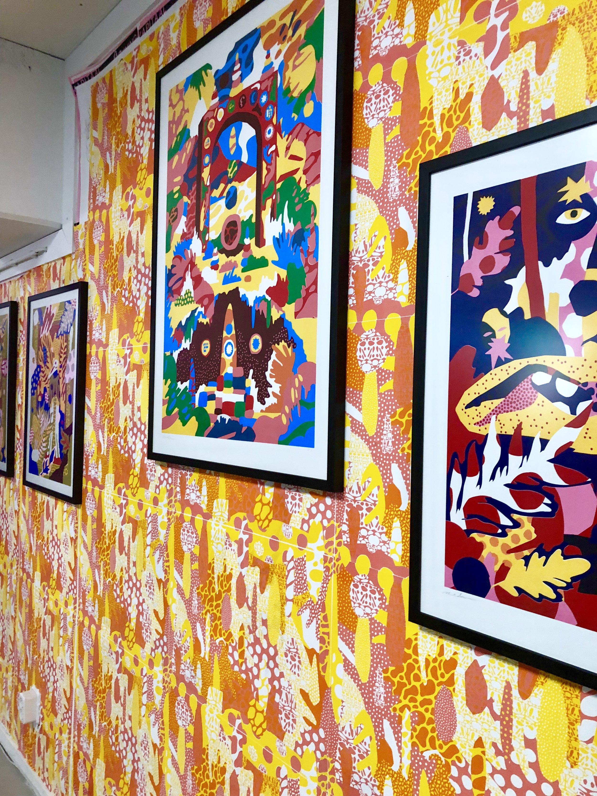 Nick's Work in print studio Kapitaal, Utrecht