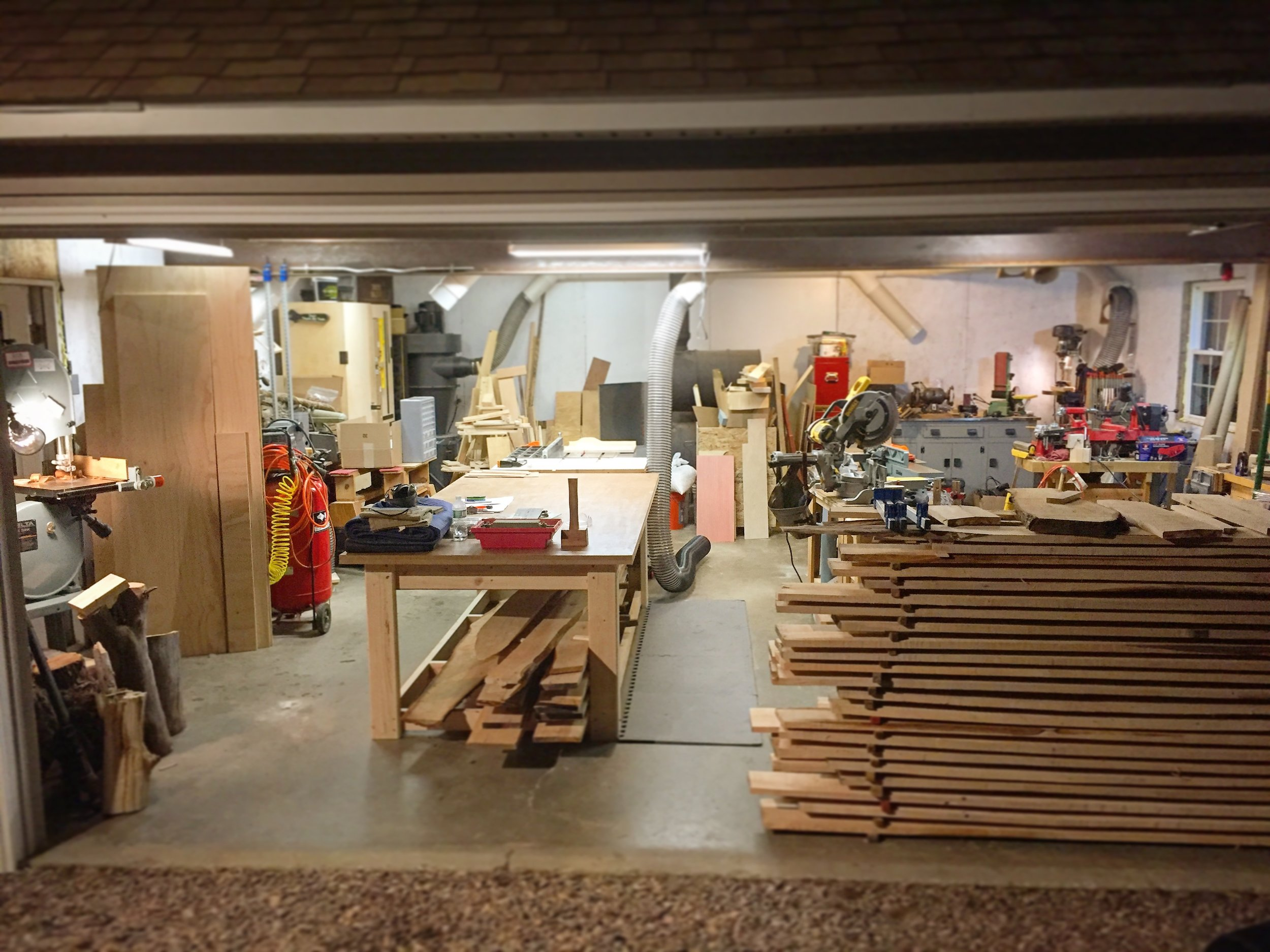 The woodshop is where K. Bowley Woodcraft's designs and creations come to life. From itty bitty buttons to the big beds, every piece has a place in this shop. - Est. Summer 2016
