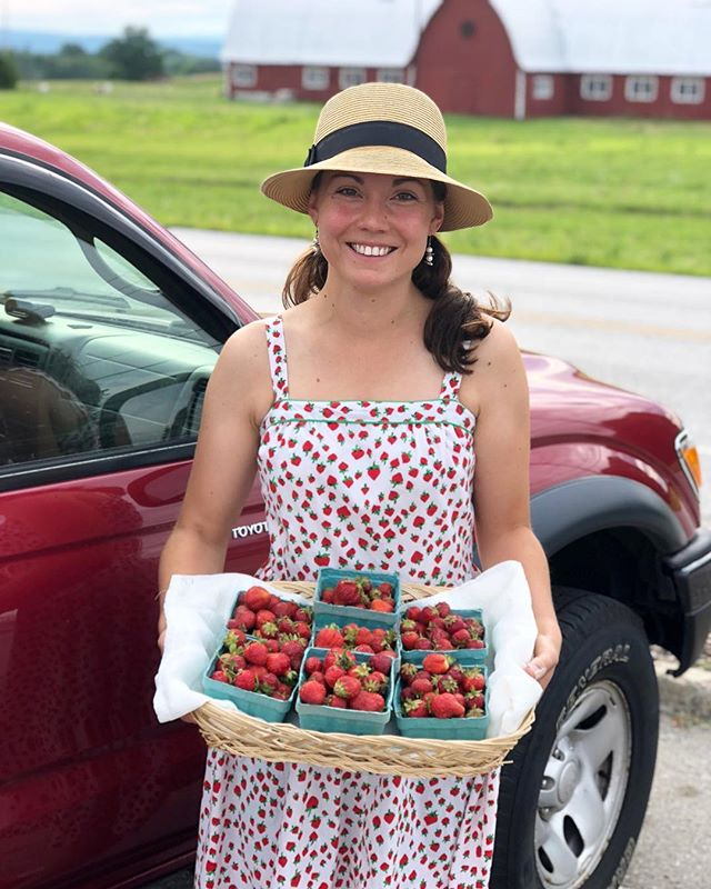 The strawberries are making a comeback after the birds got their fill earlier this month. We've got the truck packed with fresh rhubarb, strawberry-rhubarb syrup, and new products from @kbwoodcraft - come say 'hello' at the #burlingtonfarmersmarket today 8:30 am - 2 pm.