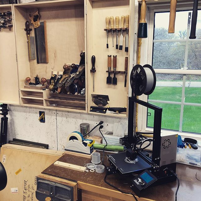 Old technology meets new. #kbwoodcraft #3dprinting #maker #diy #grandisle #vt #802
