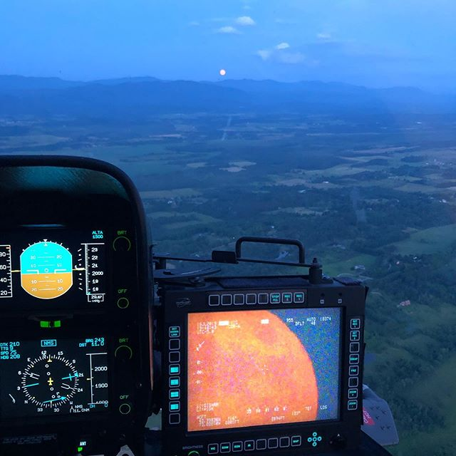 Not a bad view of the full moon rise tonight. Not bad at all. Another successful training flight with @vtuh72 #vermont #vt #802 #moonrise #moon #nationalguard #aviation
